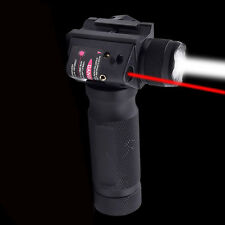 Rifle Vertical Foregrip Grip + 1000 Lumen Flashlight and Red Laser Combo Sight