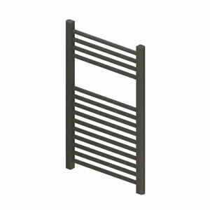 Straight Heated Towel Rail - 800mm x 400mm - Anthracite Roma - 5 Year Guarant...
