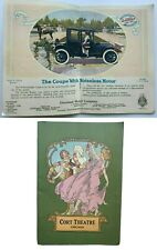 Cort Theater program Chicago 1915 Vintage car Advertising Willys-Knight coupe