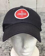 K Products Coca Cola Coke Round Patch Logo Gray Cloth Strapback  Hat Cap