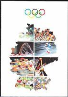 Germany 1992 EB FDC Mi 1592-1595 Sc B724-B727 Olympic Sports Fencing,rowing.LUX