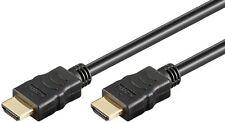 1m HDMI 4K UHD Kabel vergoldet mit Ethernet 3D bis 1080p #650