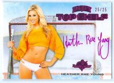 "HEATHER RAE YOUNG ""PINK TOP SHELF AUTOGRAPH CARD #25/25"" BENCHWARMER HOCKEY 2014"