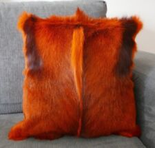 "Burnt Orange Springbok Skin Pillow Case 15x15"" (similar to cow hide skin pillow)"