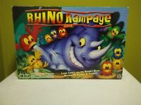 Rhino Rampage Board Game 2007 Mattel Tested Works 100% Complete