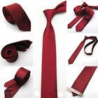 5cm Unisex Slim Tie Solid Color Plain Silk Jacquard Woven Necktie Casual Fashion