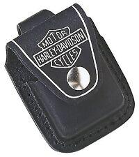 ZIPPO Harley Davidson ® Leder Tasche schwarz für Ihr Zippo NEU