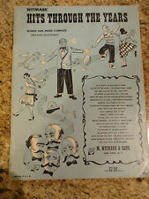 HITS THROUGH THE YEARS Song Book - PIANO VOCAL  & Guitar Chords 1951