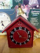 Ingraham Red Church Bell Electric Clock.  (Rare) Model 38-006 Bristol Conn
