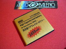 Batteria 2450Mah PER SAMSUNG GALAXY S GT i9000 POTENZIATA MAGGIORATA Nuova