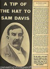 "Tip Of The Hat To Sam Davis - ""Nevada Sam"" + Genealogy"