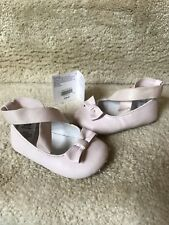 GIRLS JANIE AND JACK BALLET SHOES SIZE 6-12 MONTHS