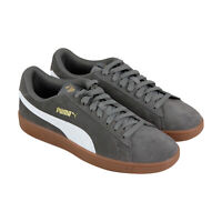 Puma Smash V2 36498927 Mens Gray Suede Classic Lace Up Low Top Sneakers Shoes