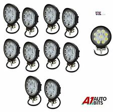 10 PCS 12V/24V WATERPROOF 27W 9 LED SPOT BEEM WORK LIGHTS LAMP OFFROAD JEEP CAR