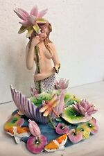 Sheila Wolk Mermaid Collection Rainbow Pool Koi Lotus Harmony Figurine Statue