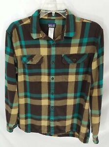 Patagonia Long-Sleeve Button-Front Multicolor Plaid Flannel Shirt Men's L