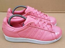 GORGEOUS ADIDAS SUPERSTAR TRAINERS PINK GLOSS METAL TOE IN SIZE 6 UK VGC RARE