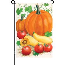 """Harvest Time"" 12"" Fall Vegetables Garden Flag by Premier"