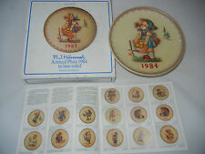 Goebel Year Plate 1984 - Busy Lizzie - Boxed (My Art no. 1984-9)