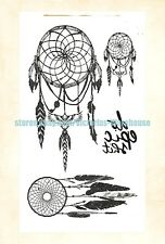 US Seller- native American dream catcher temporary tattoo body tattoos