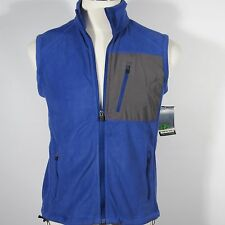 Nordic Track Men's Fleece Vest w/Zippered Chest Pocket Cobalt Blue Size XL