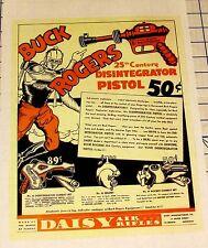 Daisy Buck Rogers XZ-38 Disintegrator Pistol Helmet &Combat Sets 1936 Ad Reprint