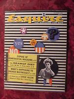 ESQUIRE Magazine November 1956 Steve Allen Betsy Palmer Bathtub Tubs