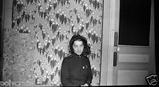 Portrait femme avec chapeau - négatif photo ancien an. 1930 40