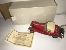 Franklin Mint Mercedes Special Roadster 500k Model Car With Box And Paperwork