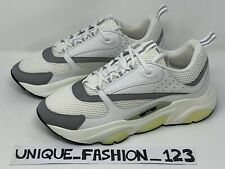 CHRISTIAN DIOR B22 RUNNERS WHITE SILVER 3M US 8 UK 7 41 TRAINERS SNEAKERS