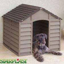 STARPLAST all'aperto in plastica CANILE SHELTER WINTER Casa Resistente Grande MOKA