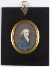 """Portrait of a young gentleman (period of Directory)"", fine French miniature"