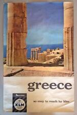 GREECE SPARTI SPARTA MYSTRAS MONASTERY ORIGINAL 1975 TRAVEL POSTER 31X35cm