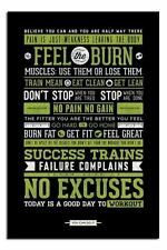 Gym Motivational Quotes Poster New - Laminated