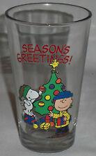 "2013 Peanuts SEASON'S GREETINGS Collector Glass - 5 3/4 "" tall"