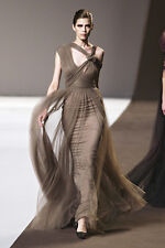 ELIE SAAB Blue Ombre Tulle Lace Silk Dress Gown 8