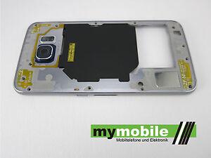 Original Samsung Galaxy S6 Mittelrahmen Rahmen Gehäuse Frame wie Abb Blau