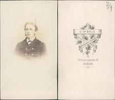 Clle Bois Toulon, marin, Wallasson CDV, vintage albumen carte de visite  CDV,