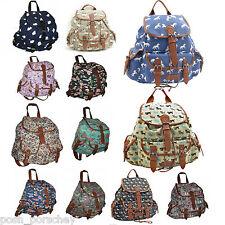 Backpack Ladies Girls Women Print Bag Medium Large Rucksack School Gym Travel