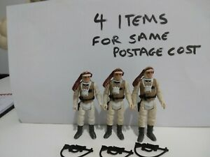 Vintage Star Wars 3x Luke Skywalker Hoth Figures Complete Repro Weapons