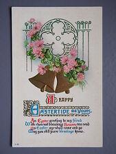 R&L Postcard: Art Design, Easter Bell Flower Design Embossed
