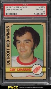1972 O-Pee-Chee Hockey Guy Charron #223 PSA 8 NM-MT