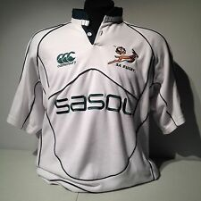 SA South Africa Springbok Rugby Union Team Canterbury Jersey Shirt Large Sasol