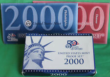2000 Proof and Uncirculated Annual Us Mint Coin Sets P D and S Minted 30 Coin