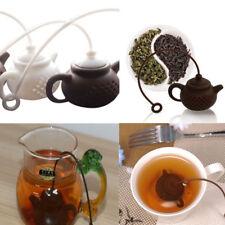 Portable Teapot-Shape Infuser Strainer Silicone Tea Bag Leaf Filter Durable Tool