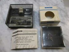 SHURE M97 CARTRIDGE AND NEW OLD STOCK GENUINE SHURE N97HE STYLUS BOTH IN CASES