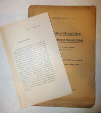 Picozzi: Ordinamento Interno e Uso Pubblico delle Biblioteche Italiane 1908