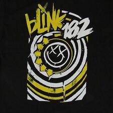 FREE SAME DAY SHIPPING NEW BLINK 182 HAPPY SMILEY FACE LOGO COLOR SHIRT XL