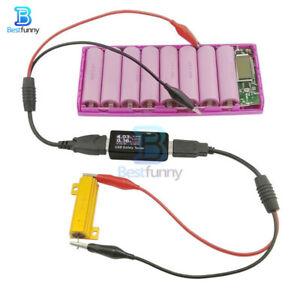 USB Alligator Clips Crocodile Copper Wire Male Female to Voltage Capacity Tester