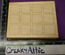 SQUARES SHADOWS CHECKERED CHECK LARGE RUBBER STAMP HERO ARTS S2057 CREAKYATTIC